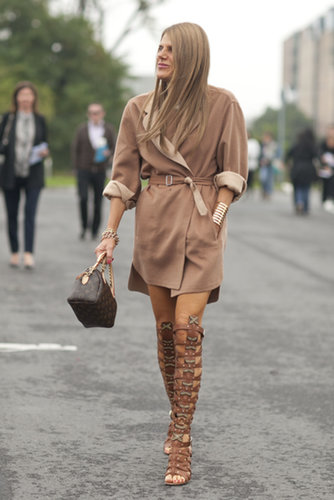 Even in neutrals, Anna Dello Russo was hardly understated.