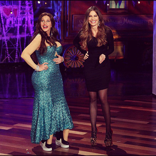 Sofia Vergara Ellen DeGeneres greeted Sofia Vergara by dressing just like her on her talk show. Source: Instagram user theellenshow