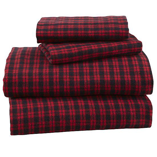 The Land of Nod Northwoods Flannel Sheet Set