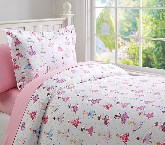 Pottery Barn Kids Tiny Dancer Flannel Duvet Cover