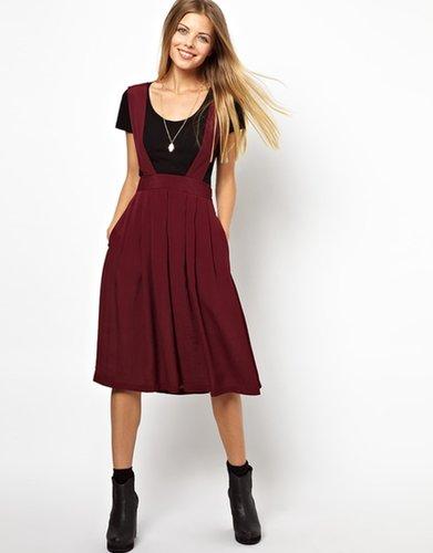 ASOS Midi Skirt with Bib Detail