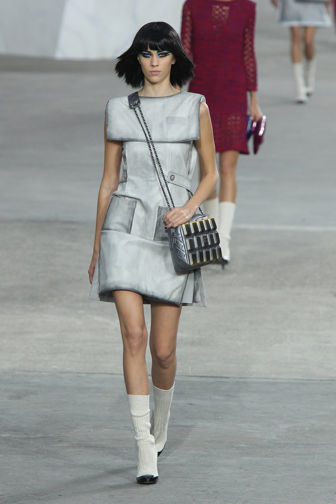 Alexa Chung walked in the Chanel 2014 fashion show.