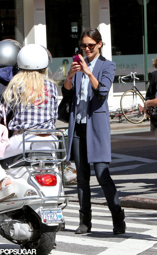 Katie Holmes Taking a Photo in NYC