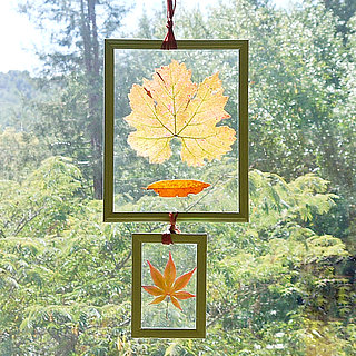 Pressed Leaf Decoration