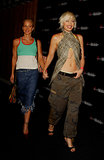 She was all smiles in a plaid midriff-baring top and cargo pants while palling around with Christina Applegate in 2003.