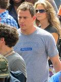 Channing Tatum was filming scenes on the set of 22 Jump Street in New Orleans.