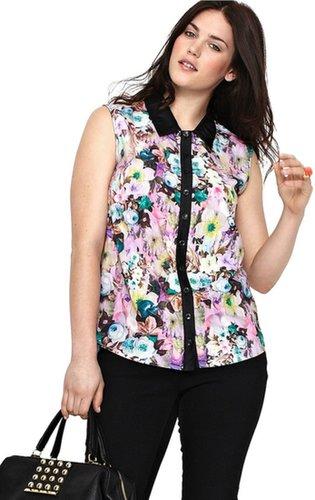 So Fabulous Floral Print Sleeveless Blouse