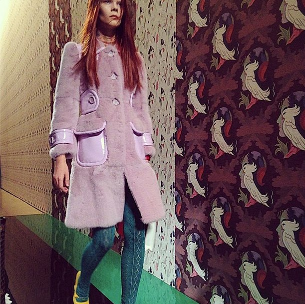 Although the fuzzy coats and sweater tights sent down the runway at Miu Miu don't