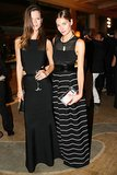Ladies in black, Kasia Struss and Jessica Hart raised a glass at the Mademoiselle C afterparty.