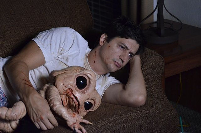 Bad Milo! What if you had a hideous demon living in your intestine that murdered whoever was making you angry at the moment? That's Duncan's (Ken Marino) problem. He's got high anxiety, due mostly to his overbearing mother (Mary Kay Place), his needy wife (Gillian Jacobs) and his jerk of a boss (Patrick Warburton). He finds the only way he can control his intestinal demon is to befriend it. The horror-comedy opens in limited release on Oct. 4. Source: Magnet Releasing