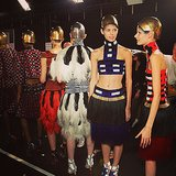 Alexander McQueen's warriors were ready to march. Source: Instagram user worldmcqueen