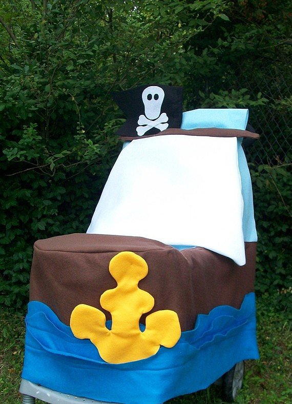 Turn His Stroller Into a Pirate Ship