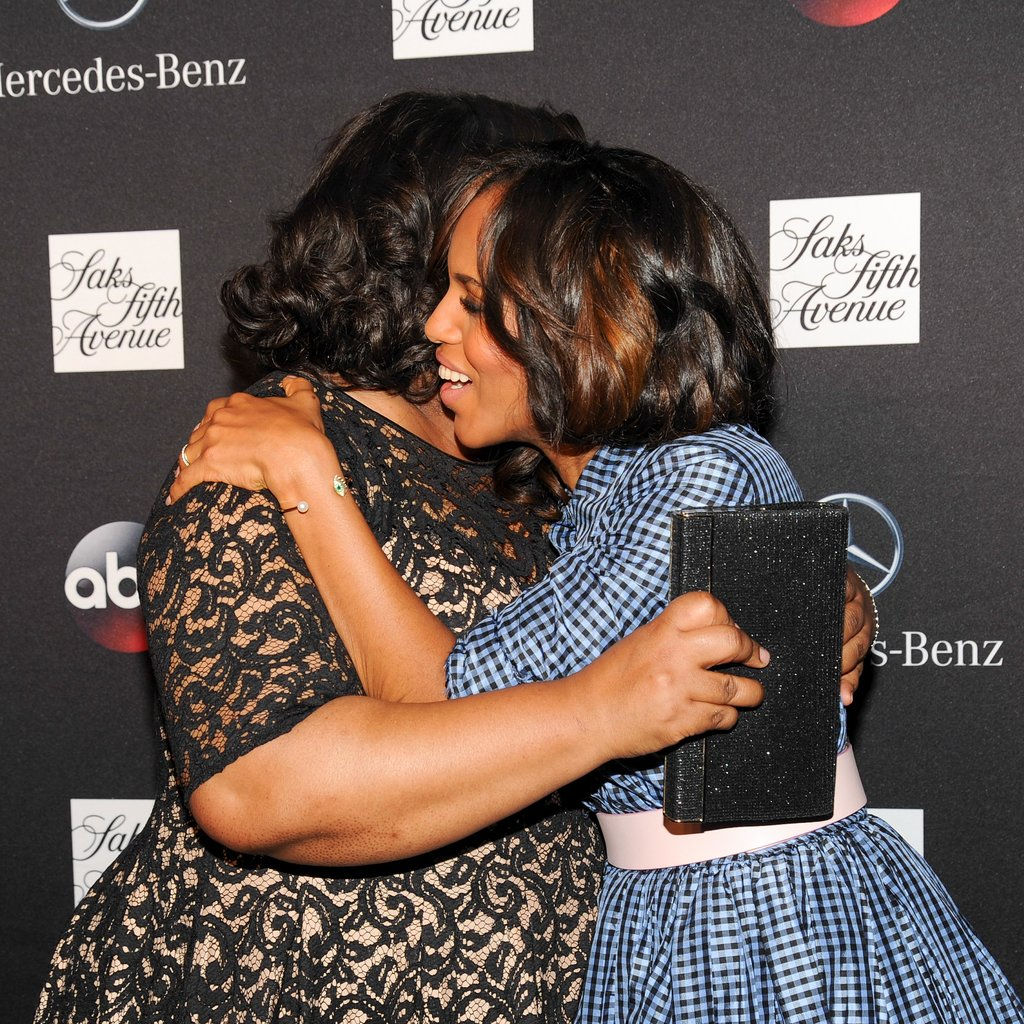 Kerry Washington and Shonda Rhimes shared a hug.