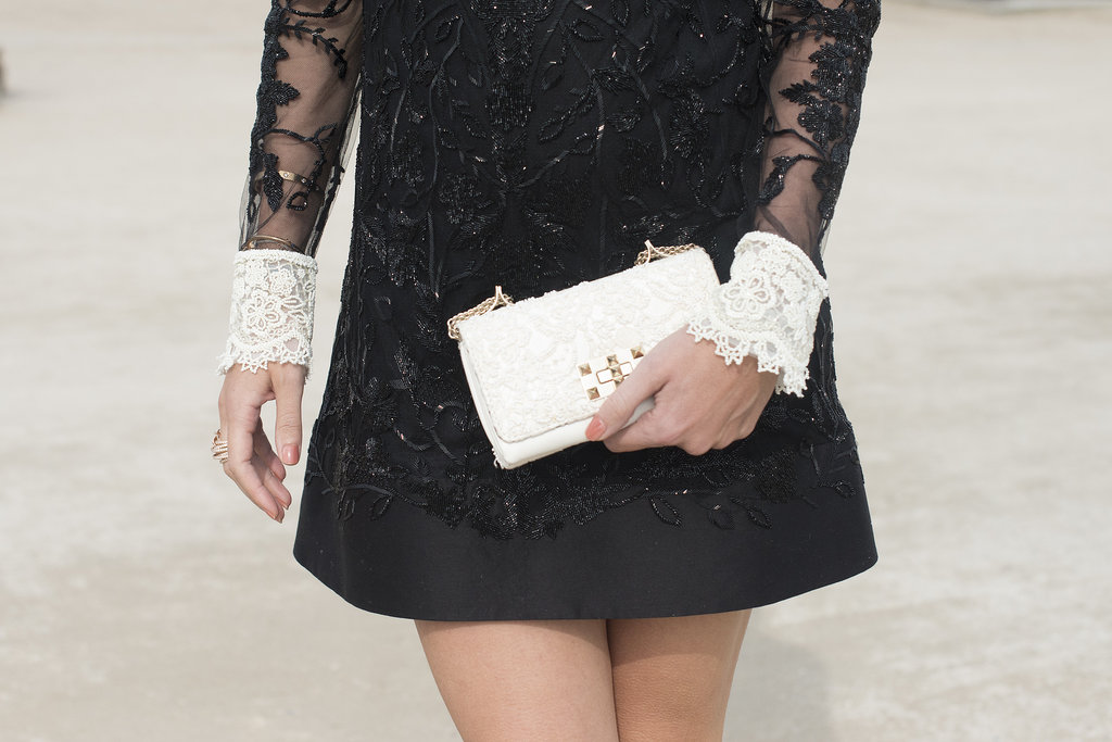 What better way to finish a feminine LBD than with a LWC (little white clutch).