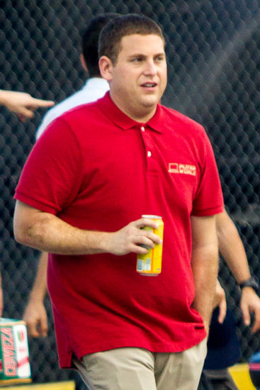 Jonah Hill teamed up with Channing Tatum to film 22 Jump Street  on Wednesday in New Orleans.