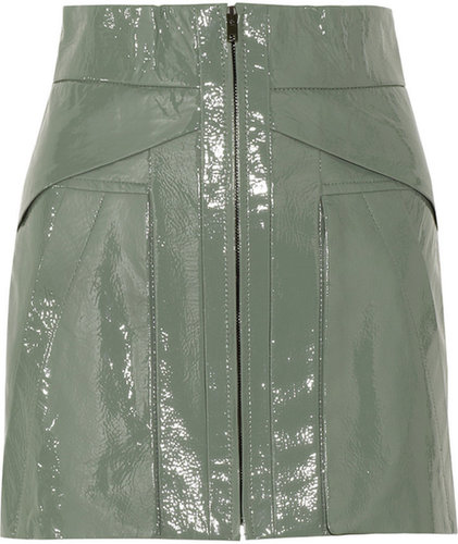 Alexander Wang Patent-leather mini skirt