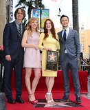 Julianne Moore posed with Jay Roach, Chloë Moretz, and Joseph Gordon-Levitt.