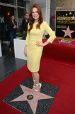 Julianne Moore was all smiles as she received her star.