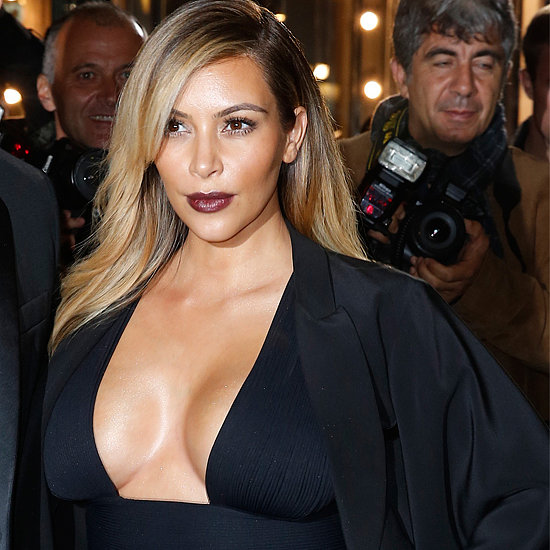 Kim Kardashian Flaunts Her Curves at Mademoiselle C Event