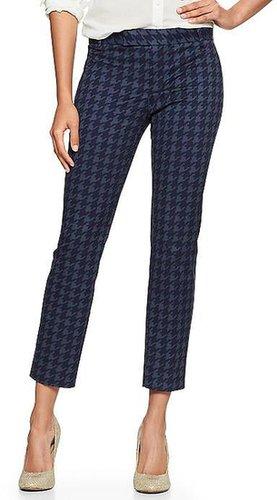 Slim cropped print pants