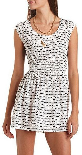 Lace-Back Geo Print Dress