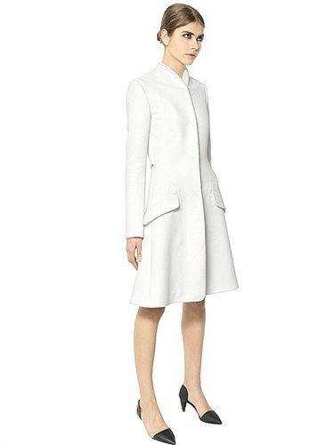 Viscose/Wool Bouclé Coat