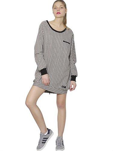 Zig Zag Print French Terry Dress