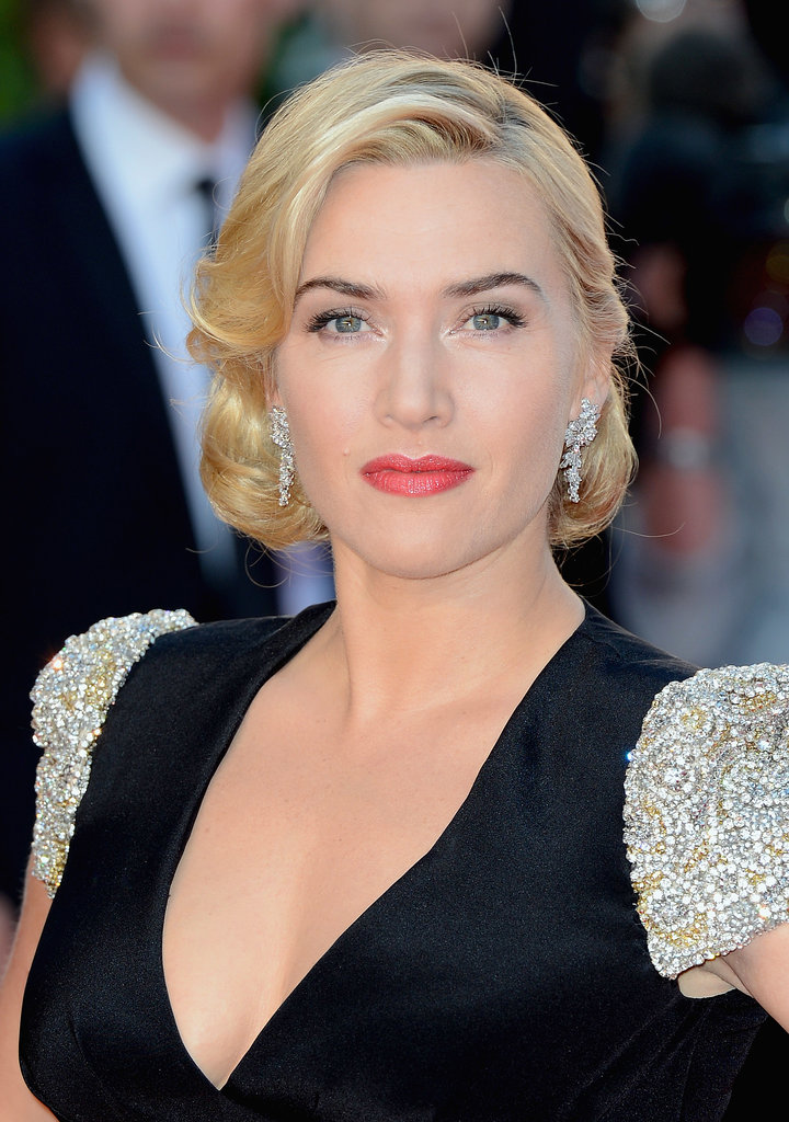 Her look for last year's premiere of Titanic 3D is one we've seen on Kate before: full-on glamorous.