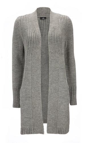 Grey Bow Long Cardigan