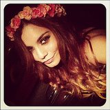 We're digging Vanessa Hudgens's flower crown. Source: Instagram user vanessahudgens