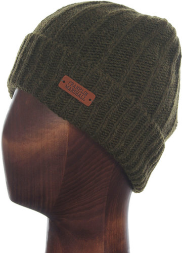 Franklin & Marshall Moss Green Beanie Hat