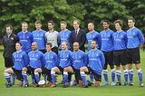Prince William snapped a picture with the Polytechnic team, who won the match 2-1.