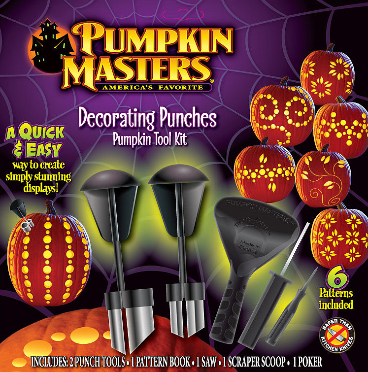 Pumpkin Masters Decorating Punches Pumpkin Carving Kit