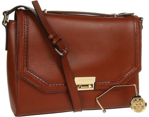 BCBGMAXAZRIA - Gemma Leather Shoulder Bag (Cognac) - Bags and Luggage