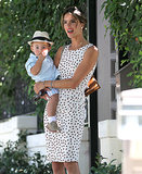 Alessandra Ambrosio carried her little Noah around LA on Saturday.