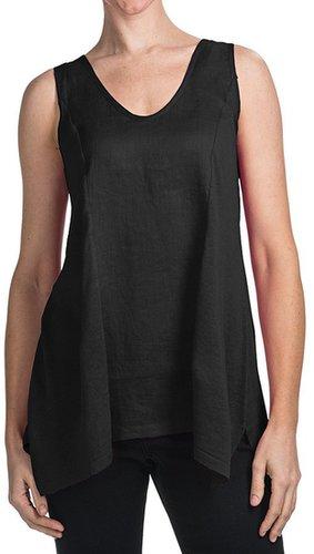 August Silk Hybrid Tank Top - Linen Blend (For Women)