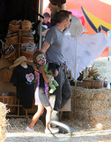 Olivier Martinez Takes Nahla to the Pumpkin Patch While Halle Berry Rests Up