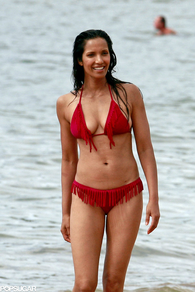 Padma Lakshmi showed off her bikini body in Hawaii.