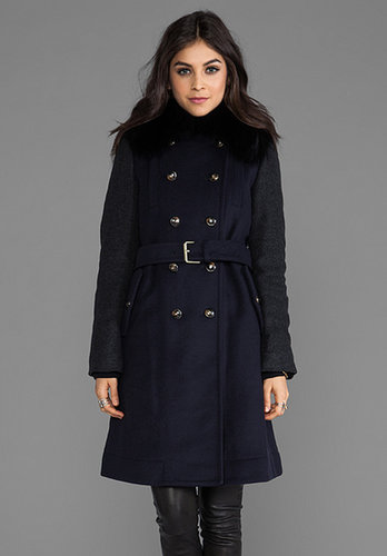 Marc by Marc Jacobs Nicolette Colorblocked Wool Coat