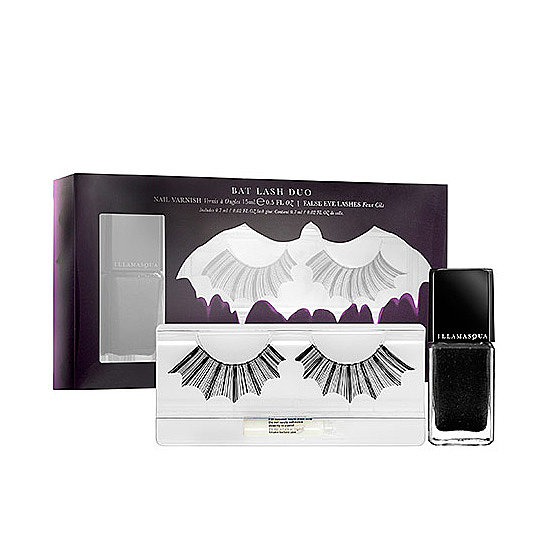 The Illamasqua Bat Lash Duo ($22) is an alluring pair perfect for complementing any costume. The fluttery lashes are cut into the shape of bat wings and come with a black glitter-flecked polish to wear on its own or atop any other polish.