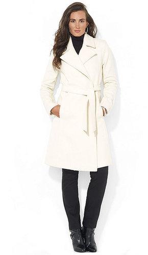 Lauren Ralph Lauren Coat, Wool-Cashmere-Blend Wrap Belted