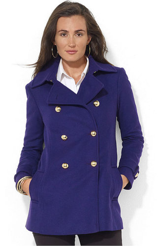 Lauren Ralph Lauren Coat, Wool-Cashmere-Blend Peacoat