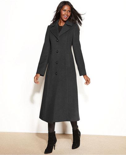 Anne Klein Coat, Wool-Cashmere-Blend Maxi Walker