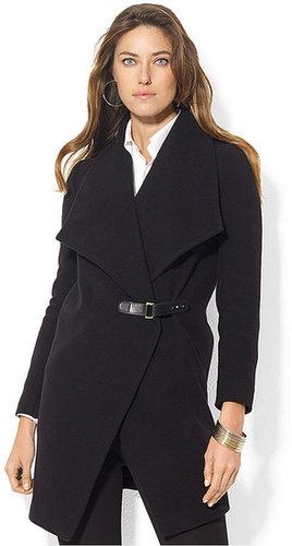 Lauren Ralph Lauren Coat, Cashmere-Blend Drape-Front