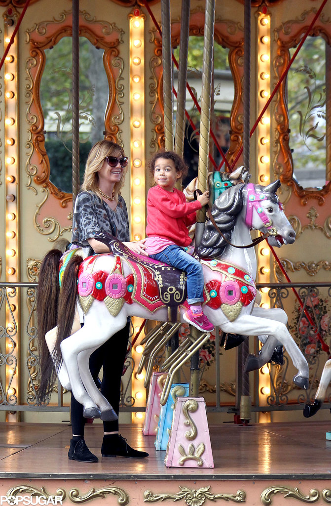 Ellen Pompeo rode a Roman carousel with Stella Ivery.