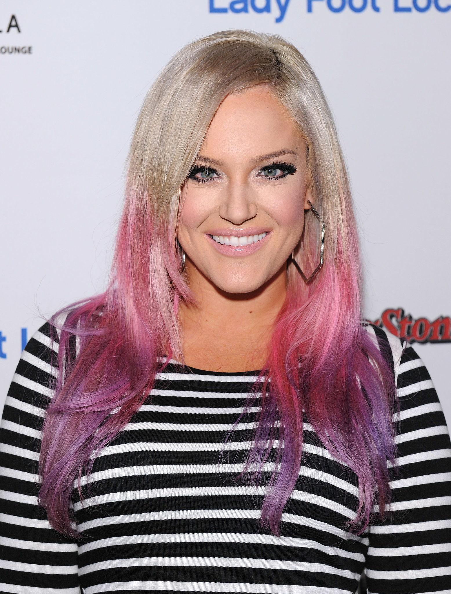 Lacey Schwimmer brightened up her long hair with an ombré dip dye of ...