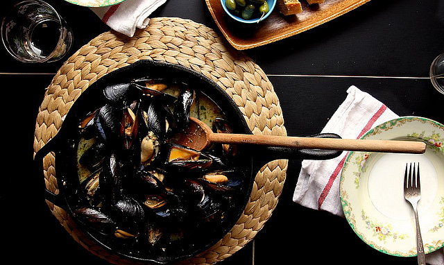 Mussels With Almond Butter
