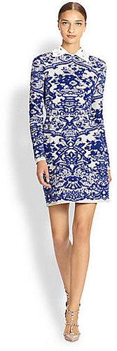 Valentino Embroidered Tulip Dress