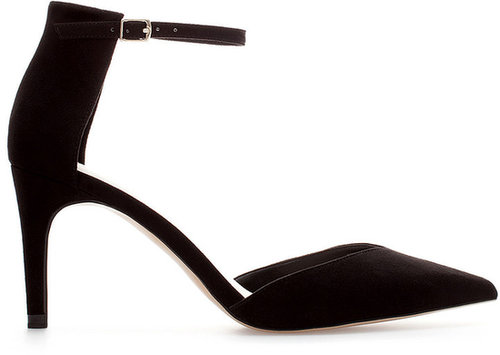 Basic Pointy Shoes With Ankle Strap