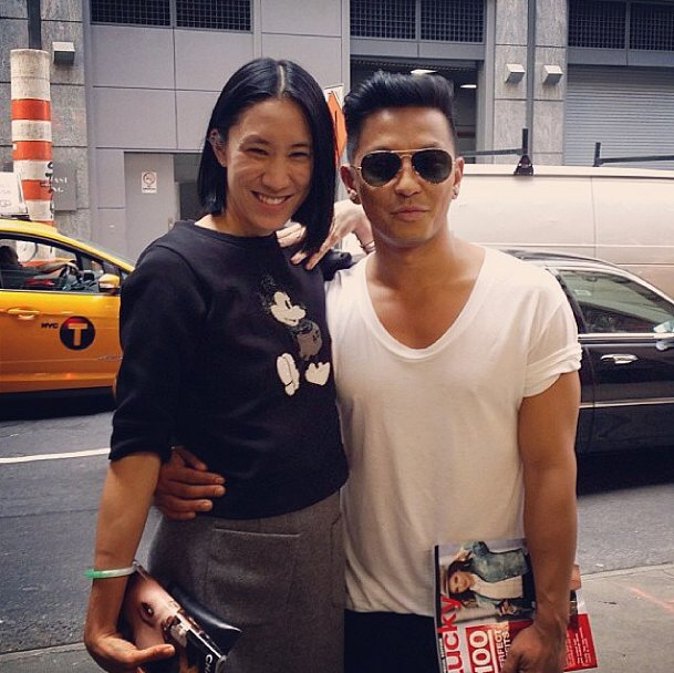 Eva Chen and Prabal Gurung buddied up in NYC. Source: Instagram user prabalgurung